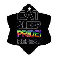 Eat sleep pride repeat Snowflake Ornament (Two Sides)
