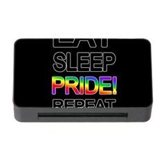 Eat sleep pride repeat Memory Card Reader with CF