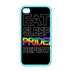 Eat sleep pride repeat Apple iPhone 4 Case (Color)
