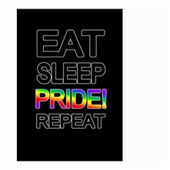 Eat sleep pride repeat Small Garden Flag (Two Sides)
