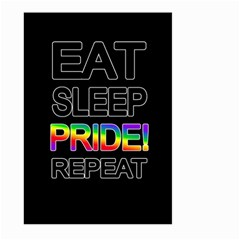 Eat sleep pride repeat Large Garden Flag (Two Sides)