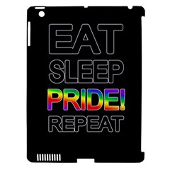 Eat sleep pride repeat Apple iPad 3/4 Hardshell Case (Compatible with Smart Cover)