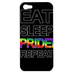 Eat sleep pride repeat Apple iPhone 5 Hardshell Case