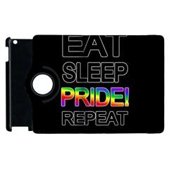 Eat sleep pride repeat Apple iPad 2 Flip 360 Case