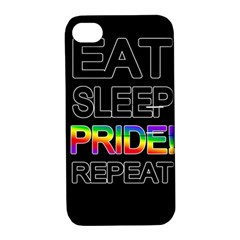 Eat sleep pride repeat Apple iPhone 4/4S Hardshell Case with Stand