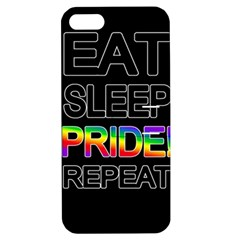 Eat sleep pride repeat Apple iPhone 5 Hardshell Case with Stand
