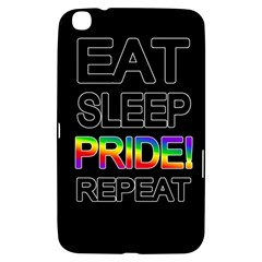 Eat sleep pride repeat Samsung Galaxy Tab 3 (8 ) T3100 Hardshell Case
