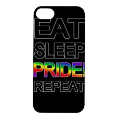 Eat sleep pride repeat Apple iPhone 5S/ SE Hardshell Case