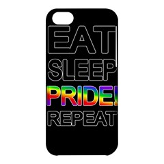 Eat sleep pride repeat Apple iPhone 5C Hardshell Case