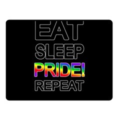 Eat sleep pride repeat Double Sided Fleece Blanket (Small)