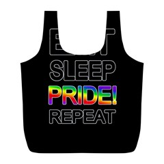 Eat sleep pride repeat Full Print Recycle Bags (L)
