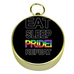 Eat sleep pride repeat Gold Compasses