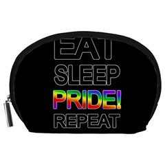 Eat sleep pride repeat Accessory Pouches (Large)