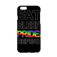 Eat sleep pride repeat Apple iPhone 6/6S Hardshell Case