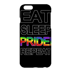 Eat sleep pride repeat Apple iPhone 6 Plus/6S Plus Hardshell Case