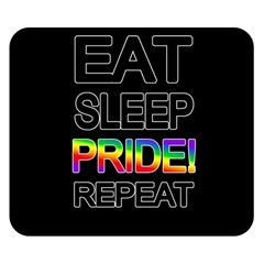 Eat sleep pride repeat Double Sided Flano Blanket (Small)