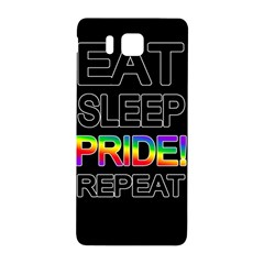 Eat sleep pride repeat Samsung Galaxy Alpha Hardshell Back Case