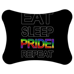 Eat sleep pride repeat Jigsaw Puzzle Photo Stand (Bow)