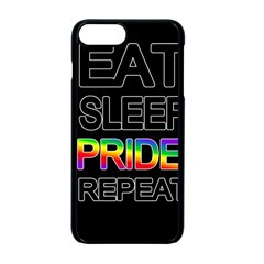 Eat sleep pride repeat Apple iPhone 7 Plus Seamless Case (Black)