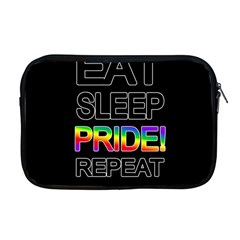 Eat sleep pride repeat Apple MacBook Pro 17  Zipper Case