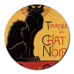 Black cat Round Mousepads