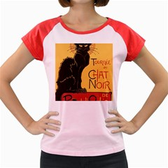Black cat Women s Cap Sleeve T-Shirt
