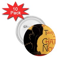 Black cat 1.75  Buttons (10 pack)