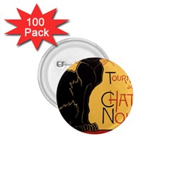 Black cat 1.75  Buttons (100 pack)