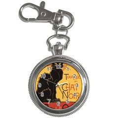 Black cat Key Chain Watches