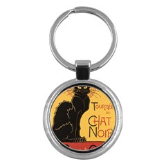 Black cat Key Chains (Round)