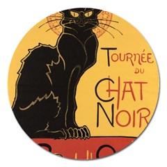 Black cat Magnet 5  (Round)