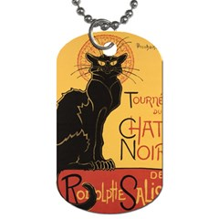 Black cat Dog Tag (Two Sides)