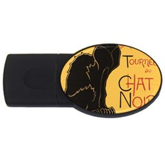 Black cat USB Flash Drive Oval (2 GB)
