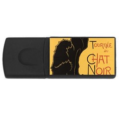 Black cat USB Flash Drive Rectangular (2 GB)