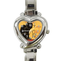 Black cat Heart Italian Charm Watch