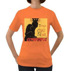 Black cat Women s Dark T-Shirt