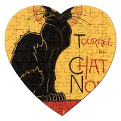 Black cat Jigsaw Puzzle (Heart)
