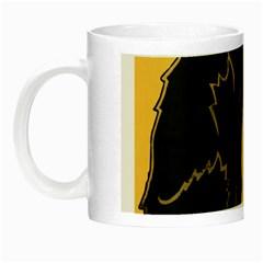 Black cat Night Luminous Mugs