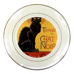 Black cat Porcelain Plates