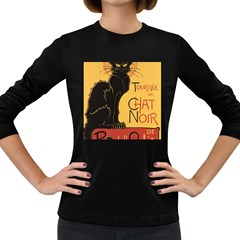 Black cat Women s Long Sleeve Dark T-Shirts
