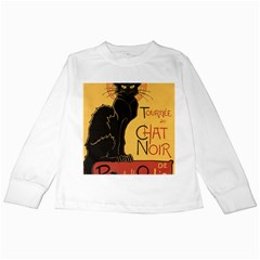 Black cat Kids Long Sleeve T-Shirts