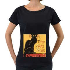 Black cat Women s Loose-Fit T-Shirt (Black)