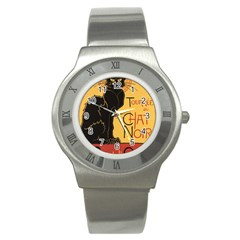 Black cat Stainless Steel Watch