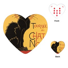Black cat Playing Cards (Heart)