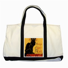 Black cat Two Tone Tote Bag