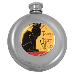 Black cat Round Hip Flask (5 oz)