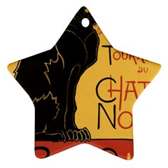 Black cat Star Ornament (Two Sides)