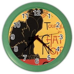 Black cat Color Wall Clocks
