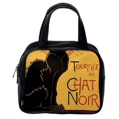 Black cat Classic Handbags (One Side)