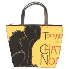 Black cat Bucket Bags